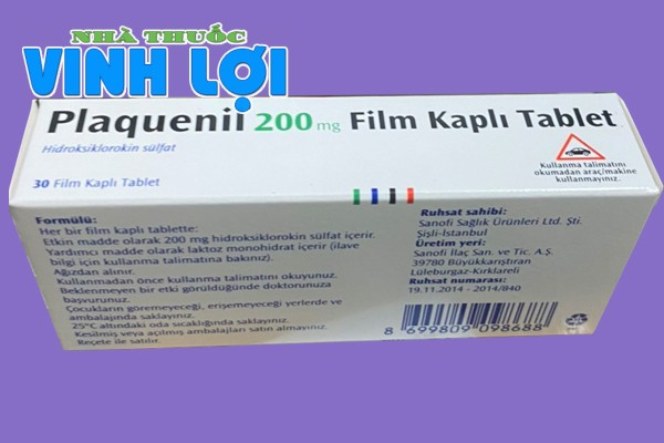 Liều dùng thuốc Hydroxychloroquine Plaquenil 200mg