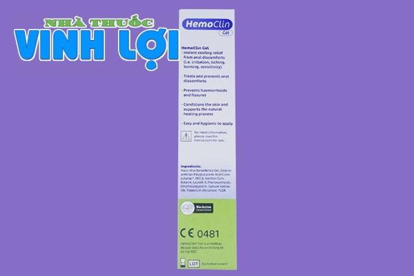 Tác dụng dược lý của Hemoclin Gel