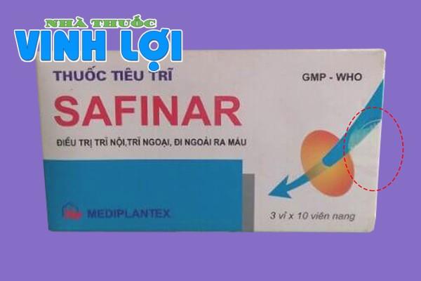 Phân biệt thuốc tiêu trĩ Safinar thật và giả