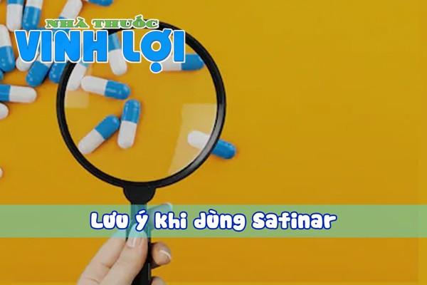Lưu ý khi dùng thuốc trị trĩ Safinar