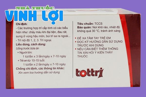 Thành phần thuốc Tottri