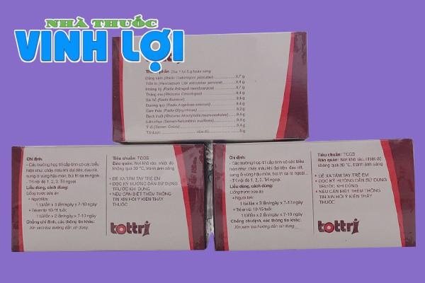 Thuốc Tottri có dùng được cho bà bầu, phụ nữ cho con bú?
