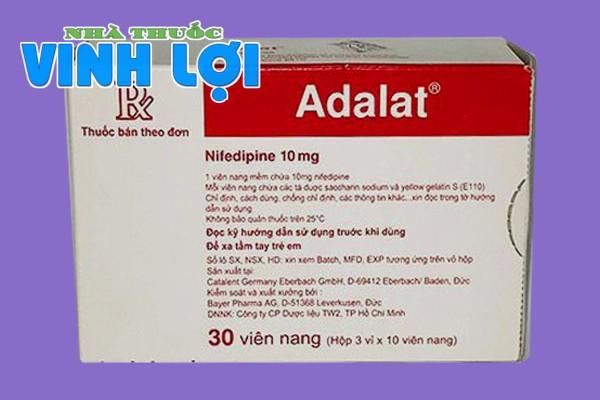 Hộp thuốc Adalat 10mg