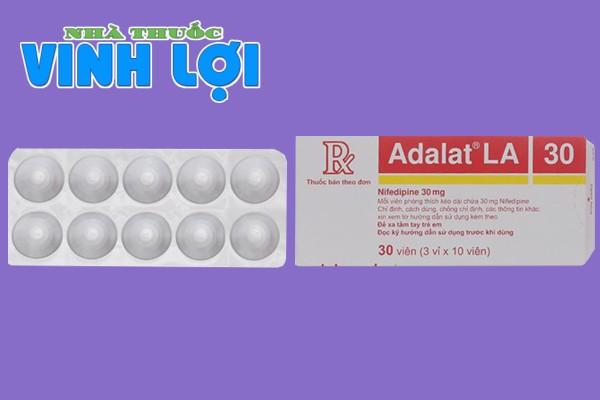 Hình ảnh hộp và vỉ thuốc Adalat 30mg