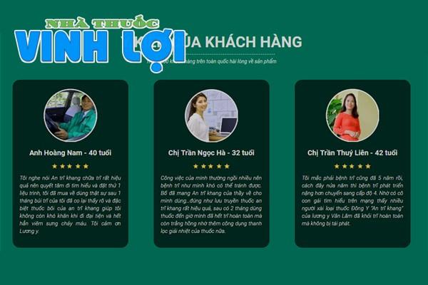 An Trĩ Khang review từ người dùng