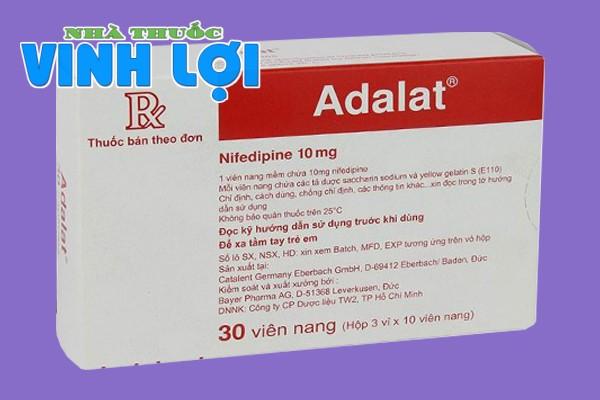 Hình ảnh hộp thuốc Adalat 10mg