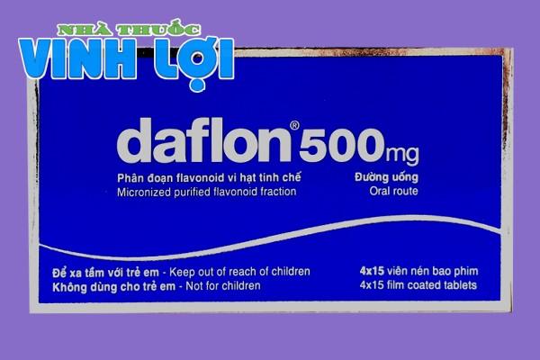 Mặt trước hộp thuốc Daflon