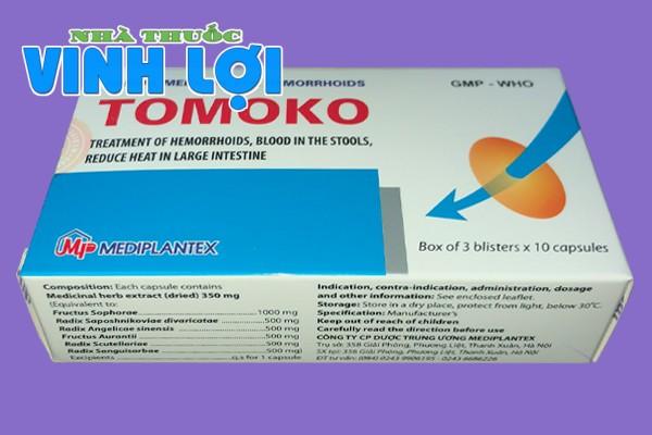 Hình ảnh hộp thuốc trĩ Tomoko