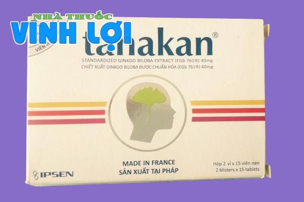 Hình ảnh hộp thuốc bổ não Tanakan 40mg
