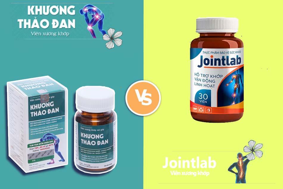 So sánh Jointlab và viên uống Khương Thảo Đan