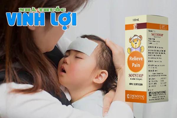Thuốc Sotstop dùng để hạ sốt, đặc biệt là trẻ em