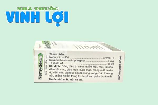 Thuốc Nemydexan 8ml thành phần