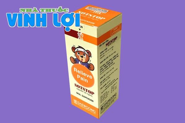 Hình ảnh hộp thuốc hạ sốt Sotstop
