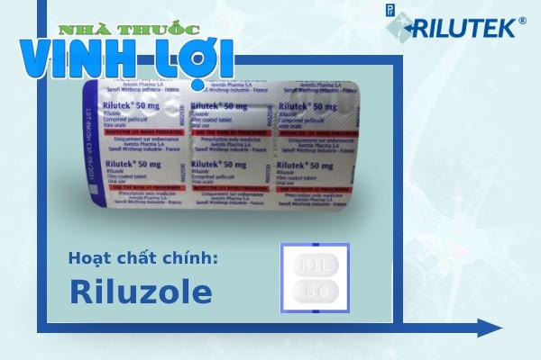 Riluzole là hoạt chất chính của thuốc