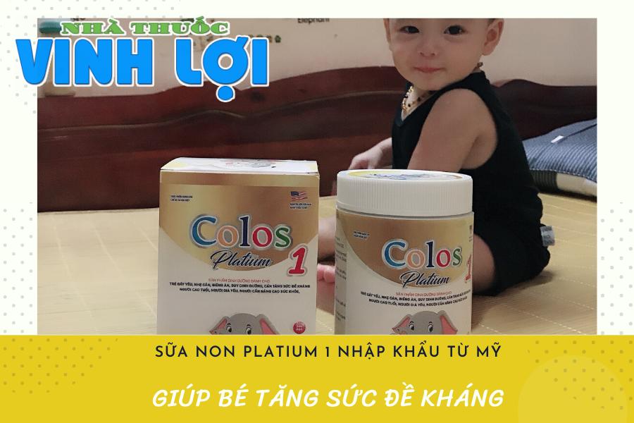 Sữa non Colos platium 1 với thành phần nhập khẩu từ tập đoàn sữa non nổi tiếng ở Mỹ, giúp tăng cường miễn dịch nhờ chứa kháng thể IgG.