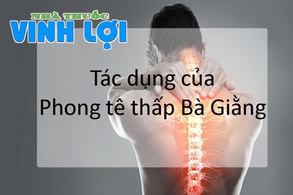 Phong tê thấp Bà Giằng có công dụng điều trị cực kỳ hiệu quả trong các bệnh về xương khớp