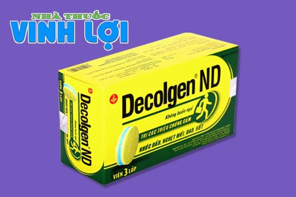Thuốc cảm cúm Decolgen có giá bao nhiêu?