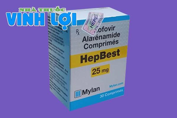 Hình ảnh thuốc Hepbest 25mg chính hãng