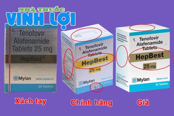 Phân biệt thuốc Hepbest giả và hàng xách tay