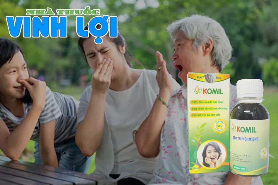 Đối tượng sử dụng sản phẩm trị hôi miệng Komil