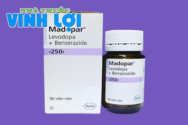 Thuốc Madopar 250mg được bán phổ biến trên thị trường hiện nay