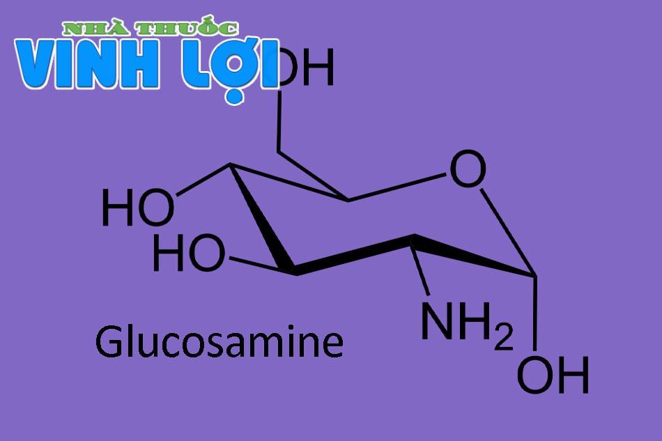 Công thức hóa học hoạt chất Glucosamin