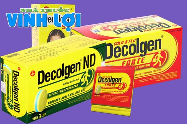 Decolgen - Xua tan những mệt mỏi do cảm cúm