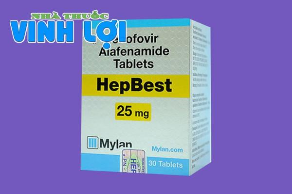 Hình ảnh hộp thuốc Hepbest 25mg
