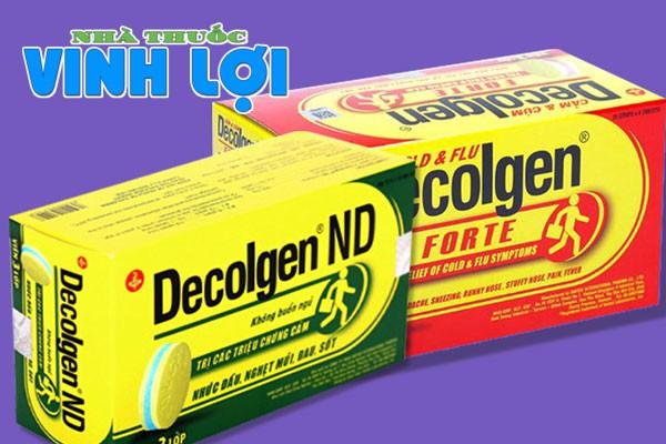 Tương tác thuốc cảm cúm Decolgen