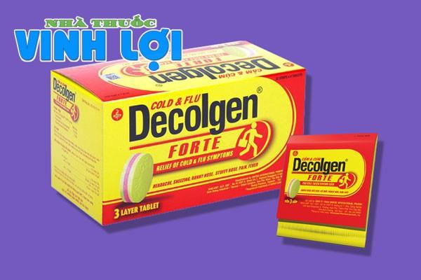 Thuốc trị cảm cúm Decolgen là gì?