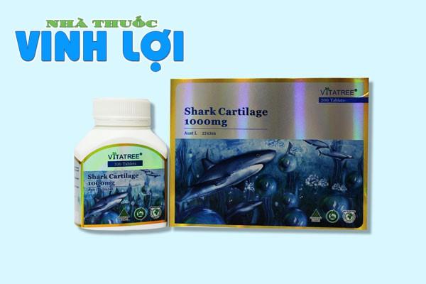Sụn vi cá mập Vitatree Shark Cartilage 1000mg của Úc