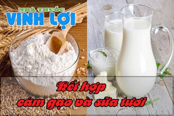 Bột cám gạo và sữa tươi sự kết hợp hoàn hảo