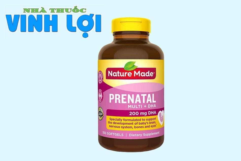 Thực phẩm bổ sung DHA Prenatal Multi + DHA - Nature Made của Mỹ
