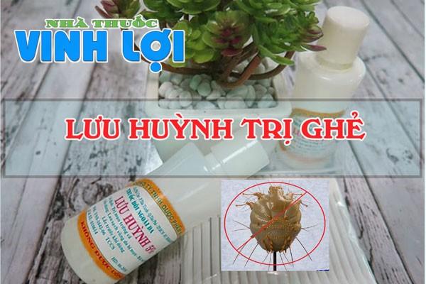Lưu huỳnh 5% có tác dụng trị ghẻ