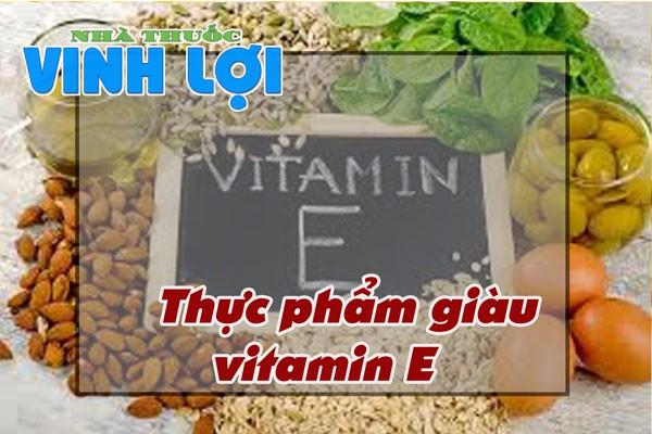 Bổ sung nhiều thực phẩm chứa hàm lượng vitamin E