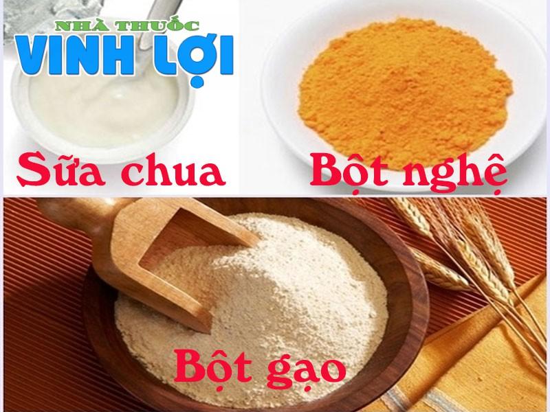 Sữa chua, bột nghệ, bột gạo- bộ ba dưỡng chất từ thiên nhiên