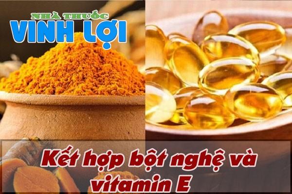 Dùng kết hợp vitamin E và tinh bột nghệ