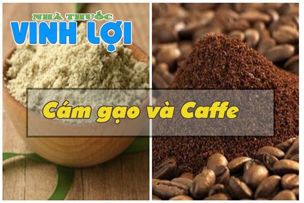 Kết hợp tạo mặt nạ bằng cám gạo và cà phê
