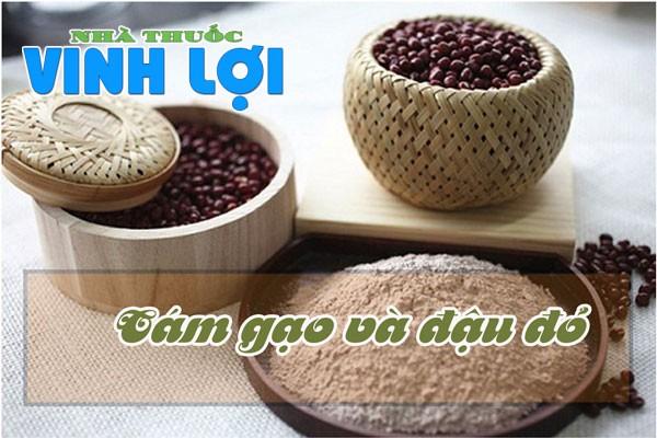 Sử dụng cám gạo và đậu đỏ cho làn da