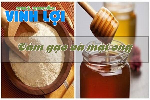 Sử dụng mặt nạ cám gạo và mật ong giúp làn da trắng và mịn hơn