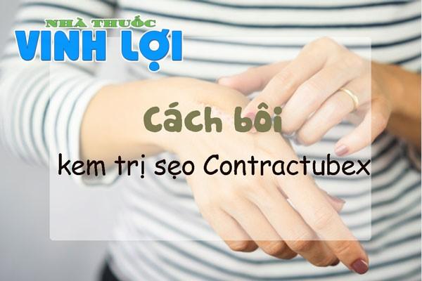 Cách sử dụng của kem trị sẹo Contractubex