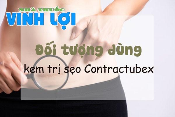 Đối tượng sử dụng kem trị sẹo Contractubex