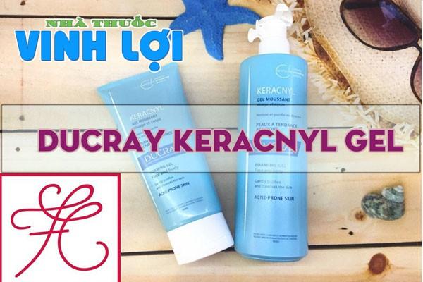 Ducray Keracnyl gel là sữa rửa mặt dành cho da dầu