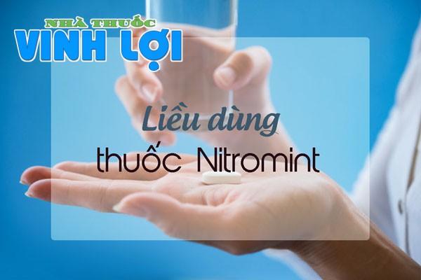 Hướng dẫn sử dụng thuốc Nitromint 2,6mg