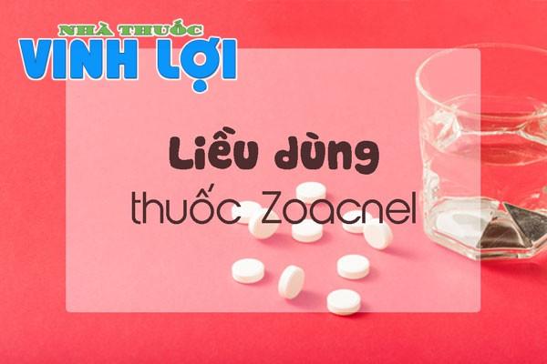 Cách dùng thuốc trị mụn Zoacnel