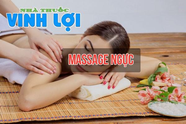 Massage ngực giúp vòng 1 được thư giãn