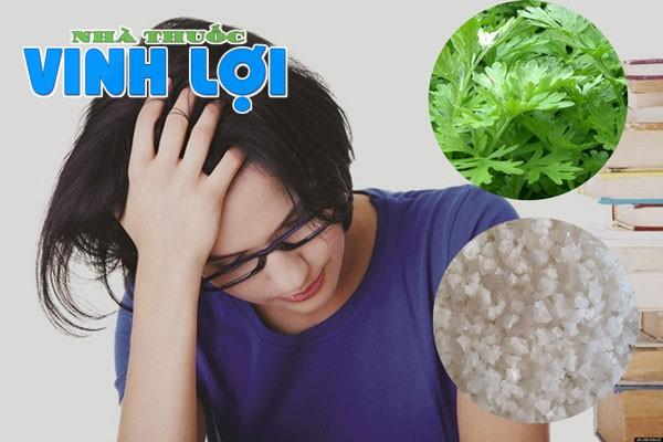 sử dụng ngải cứu và muối hạt cải thiện tình trạng đau nửa đầu vai gáy