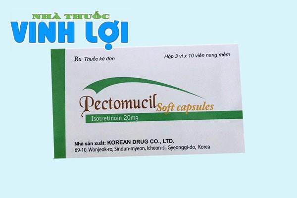 pectomucil 20mg trị mụn trứng cá nặng