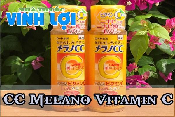 Serum trị thâm mụn giá bình dân CC Melano Vitamin C của Nhật Bản