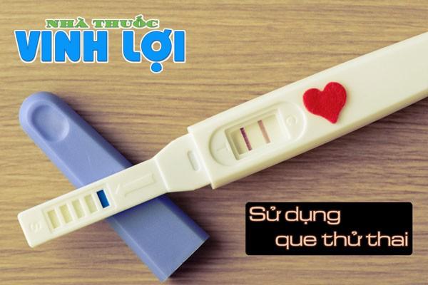 Sử dụng que thử thai